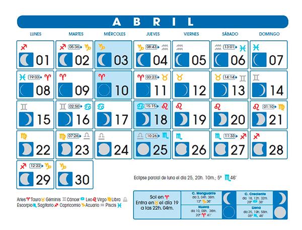 Ejemplo Calendario Lunar Calendario Lunar