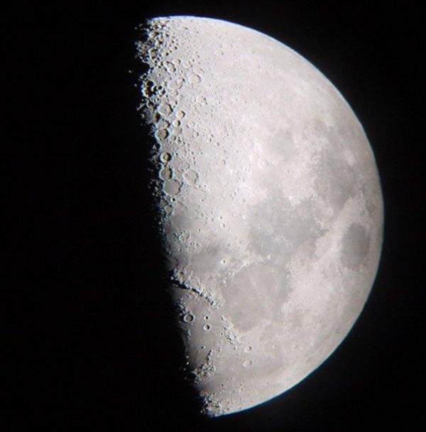 cuarto creciente Fases Lunares
